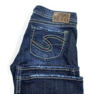 Silver Jeans 27x33 Twisted Dark Wash Bootcut Jeans